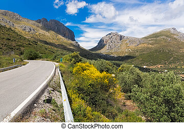 Pass road in Andalusia, Spain