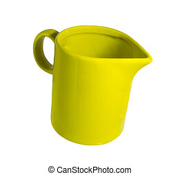 Ceramic mug with a spout for milk green - Ceramic mug with...
