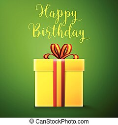 Happy birthday, gift box - Happy birthday. Gift box with...