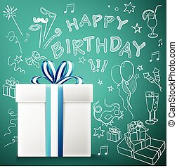 Happy birthday, gift box