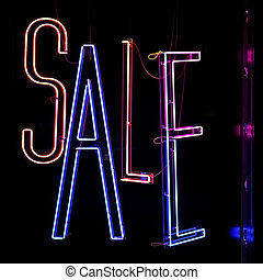 Sale Neons - Neon Lights Sale Sign in Shop Window
