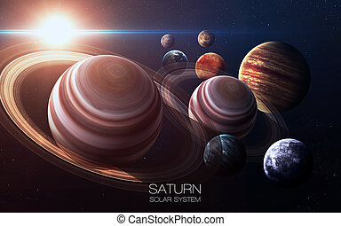 Saturn - High resolution images presents planets of the...
