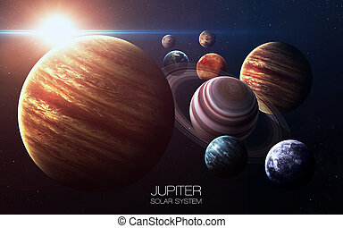 Jupiter - High resolution images presents planets of the...