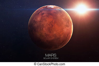 Mars - High resolution images presents planets of the solar...