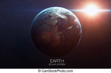 Earth - High resolution images presents planets of the solar...