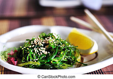 Japanese Cuisine - chuka - Chuka- japanese salad with nuts...