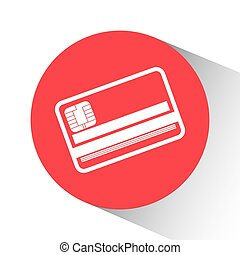 Money bank and online payment graphic design, vector...