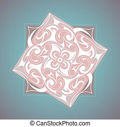 Decorative ornament with ethnic elements