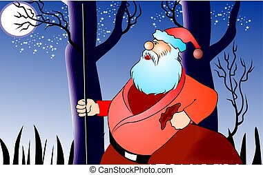 Santa clause in Christmas - Illustration of Santa clause in...