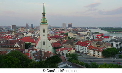 quot;bratislava old town view, slovakia, timelapse, 4kquot;...