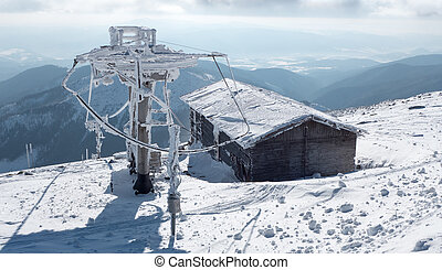Old ruined cableway in resort Jasna, Slovakia