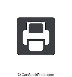 Printer Vector icon black icon