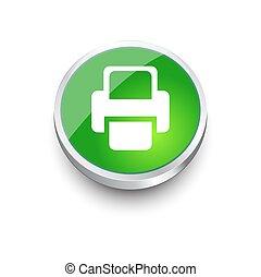 Printer Vector icon green icon