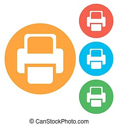 Printer Vector icon color icon