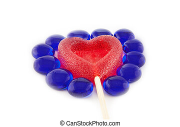 Valentine day concept - Sugar candy in the form of a heart it is isolated on white background.