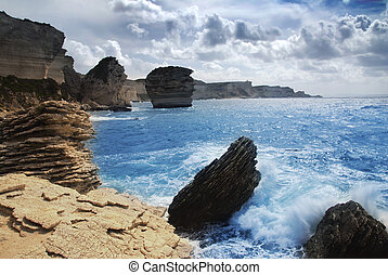 Wild coast - Wild and beautiful coast of c Corsica with...