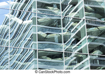 Glass facade. - Glass facade of the Central Station in The...