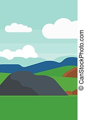 Background of hilly countryside. - Background of hilly...
