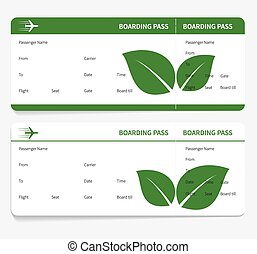 tickets leaves boarding pass isolated on grey background...