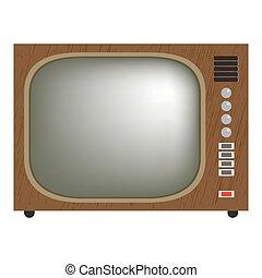 retro tv set - retro television vector illustration of...