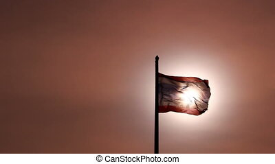 Thailand flag on sunlight