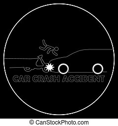 motorcycle accident. - Car crash and motorcycle accident.
