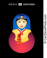 Matryoshka Korean girl - Matryoshkas of the World: Korean...