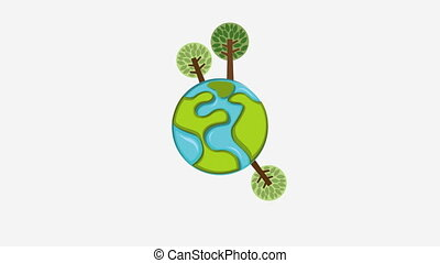 Nature icon design, Video Animation HD1080