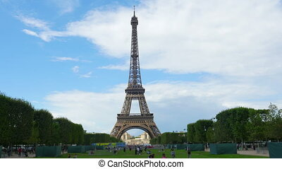 quot;eiffel tower, paris, france, timelapse, zoom in,...
