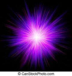 Magenta star burst