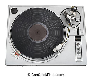 Turntable with vinyl record cutout - Turntable with vinyl...