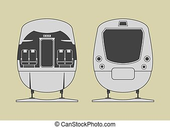 Train cabin Vector illustration