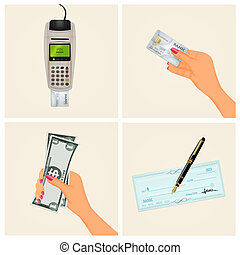 payment methods - illustration of payment methods