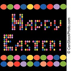 Print with eggs for Easter greeting