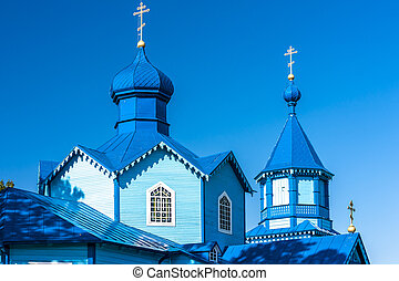 wooden Orthodox church in Narew, Podlaskie Voivodeship,...