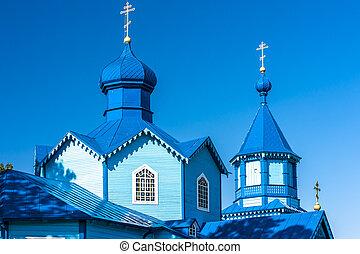 wooden Orthodox church in Narew, Podlaskie Voivodeship,...