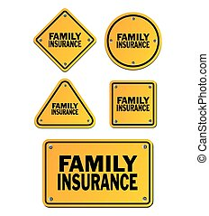 family insurance signs - suitable for signs and symbols