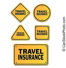 travel insurance signs - suitable for signs and symbols