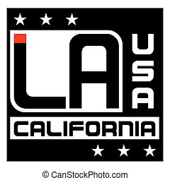 Los Angeles city Typography Graphic. Fashion stylish...