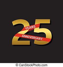 25 Years anniversary - 25 years anniversary. Golden label...