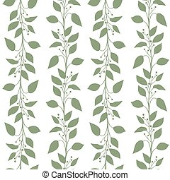 Seamless pattern branches and leaves of Camphor laurel....