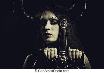 Infernal, guerreira,