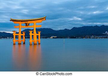 floating torii Miyajima Hiroshima - Miyajima, Hiroshima,...