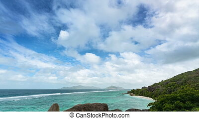 Anse Source D'Argent Timelapse - Timelapse sequence of the...