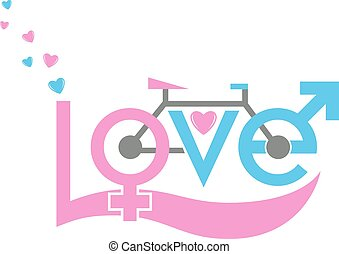 Bicycle in love