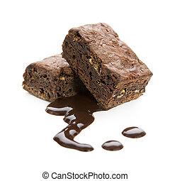 chocolate brownie - slice of fresh chocolate brownie desert...
