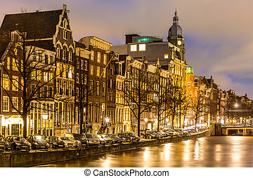 Amsterdam Canals Netherlands - Amsterdam Canals West side at...