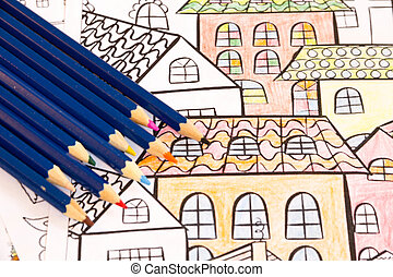 Adult colouring books with pencils, new stress relieving...