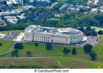 Aerial view of Auckland War Memorial - AUCKLAND - JAN 31...