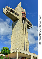 Watchman Cross in Ponce, Puerto Rico It is a 100-foot-tall...
